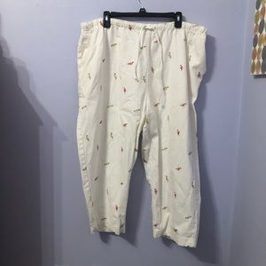 Plus size vintage floral pants